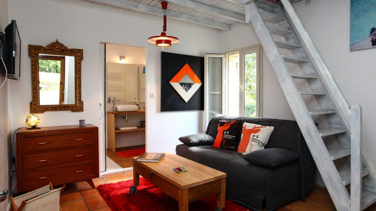Duplex Indépendant - Intérieur - Luxe et Design - Domaine de l'Ô - Gîte - Chambre d'hôte - Périgord