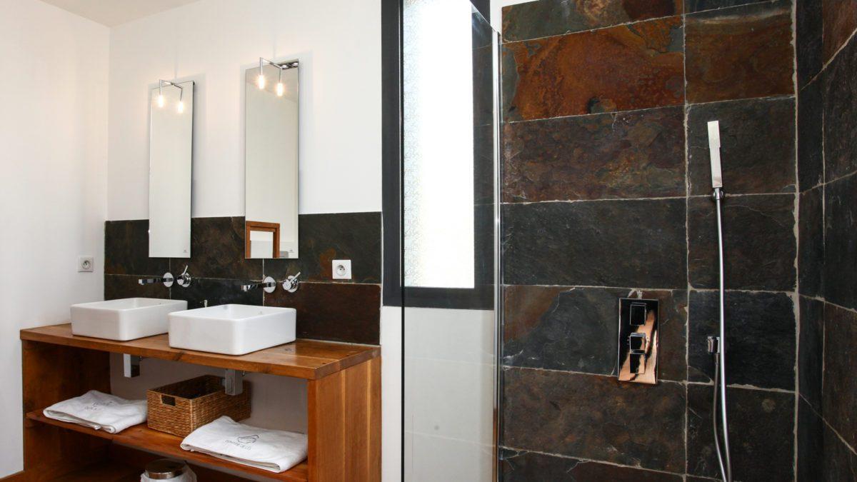 Loft Ôvebas - Salle de bain - Luxe et Design - Domaine de l'Ô - Gîte - Chambre d'hôte - Périgord