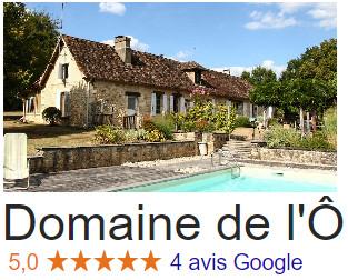Avis Domaine de l'Ô - Gîte Périgord - Google